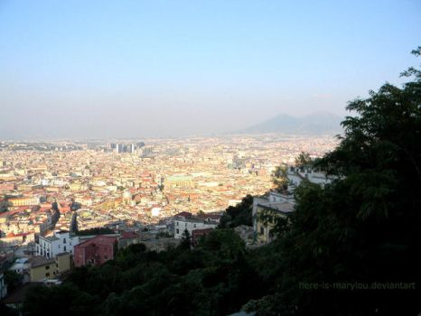 Naples from the top by Here-is-MaryLou