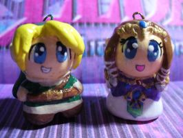 Zelda and Link charms by Muku-charms