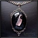 Meat Cleaver Pendant Necklace by Horribell-Originals