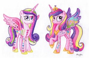 Pr(ainbowfied)incess Cadance by NancyKsu
