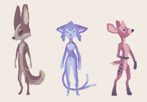 Anthro Adopts, $4 Each by Paper-Phoenix-Adopts