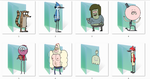 Regular Show Folder Icons by Ginokami6