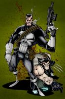 Punisher : Wolvie by Smitty-Tut