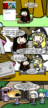 Walfas - 2hu-nder Date 2: Lilith and Marisa by Gii828
