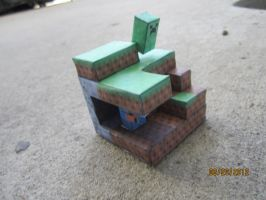 Mini Minecraft Diorama Papercraft by Odolwa5432