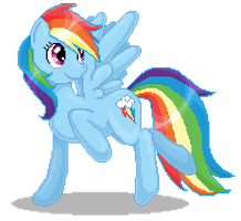 Rainbow Dash Pixel Art by catawump