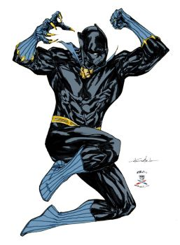 Jumping T'challa take 2! by CDL113