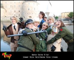 APH-cosplay: Drunken party by Kumagorochan