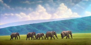 Elephants by Rizzy-The-Awesome