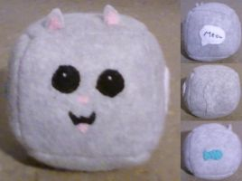 Kitty Cube Plush by eternityOnlooker