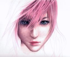 Final Fantasy 13 Lightning WIP by AzureZefer