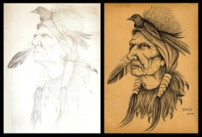 Native American drawing reproduction by Nevuela