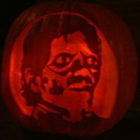 Michael Jackson Pumpkin by todd102030