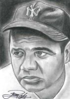 Babe Ruth by machinehead11