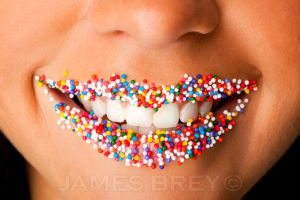 Lips With Sprinkles by JamesBrey
