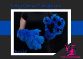Long sleeve handpaws - GeoWolf by FurryFursuitMaker