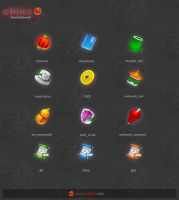 China traditional icons by zerode