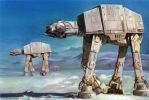 Imperial walkers on Hoth by charles-hall