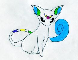 Cat Psychic Evolution Fakemon by jukebox3052