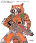 RocketRaccoonsketch1 (Available) by Bright-Raven
