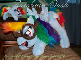 Ready Set Rainbow Dash! custom plush by Soyo-Kaze-Studio