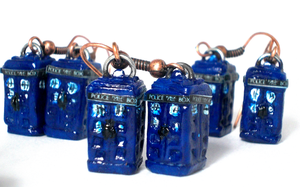 TARDIS earrings by Law-of-Murph