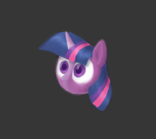 Part of Twilight's head by Hafunui