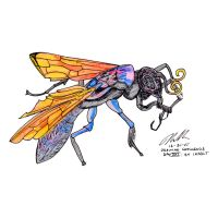 30 Day Drawing Challenge. Day XXI: An Insect by sugartitsnutpean