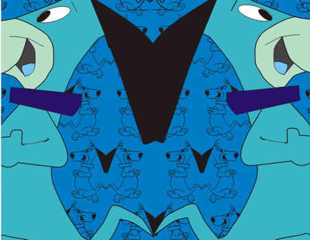 Double Dog, blue tones by DogsAnonymous