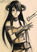 sketch commission: eleanor by michiro-mitch