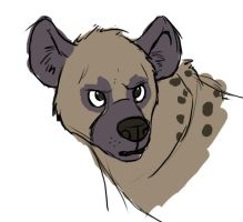 Hyena sketch by Eltharion