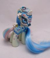 My little pony custom Dia de Muertos Azucar by AmbarJulieta