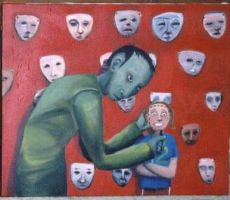 he came for their faces by godchilde