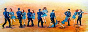 Lindy Hop by AlanaRoze