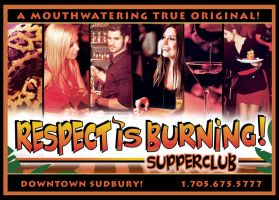 Respect is burning SupperClub billboard by Heinonen