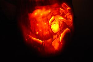 Avatar State Pumpkin by witchiamwill
