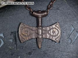 Amulet of Talos - Stainless Steel Pendant by PeregrineStudios