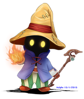 Chibi Vivi Ornitier from Final Fantasy IX by Mylphe