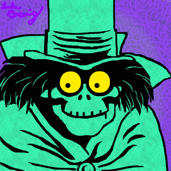 The Hatbox Ghost by UndeadHeadArt