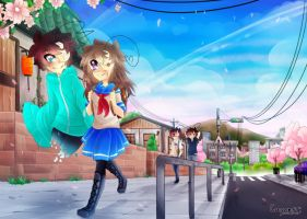 Crycest; Everlasting - Walking to school by Nadi-Chan