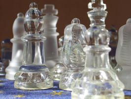 Glass Chess Stock by ValerianaSTOCK