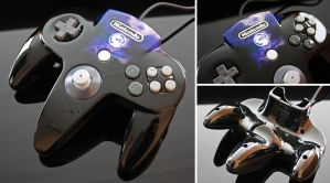 Custom Mortal Kombat Themed N64 Controller by Zoki64
