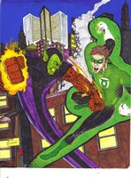 GL HAL JORDAN vs SUPER SKRULL by gagex07