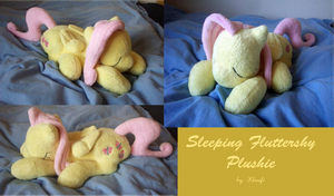 Sleeping Fluttershy Plushie by Klaufi