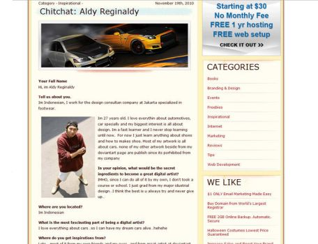 Interview with Aldy Reginaldy by halimpeter