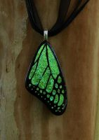 LightGreen Glass Wing by FusedElegance