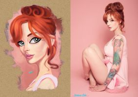 Vanessa Lake - study by MZ09