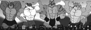 4 might fluffy hunky titans. by MattMacroPika