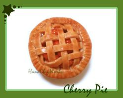 Cherry Pie Magnet by HanaClayWorks