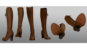 Lace-up boots-nyantarox dl by MikuPirate